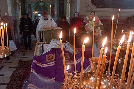 В Ахтырском кафедральном соборе началось прощание с почившим архиепископом Орловским и Ливенским Паисием