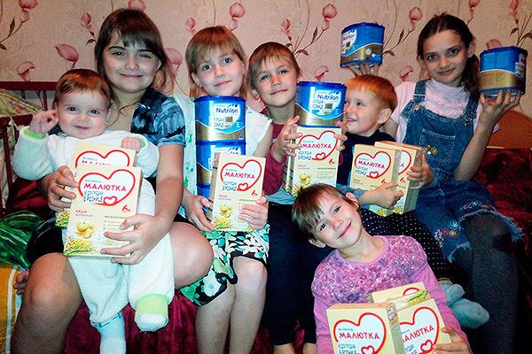 Социальный отдел Ливенской епархии раздал более 4 тысяч порций детского питания