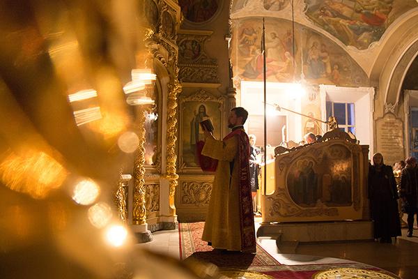 В канун Недели 23-й по Пятидесятнице митрополит Антоний совершил всенощное бдени