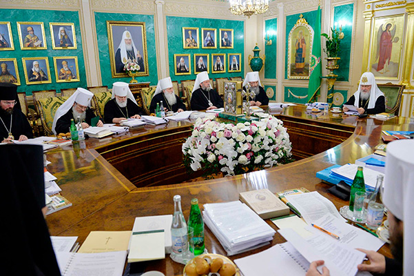 Последнее в 2017 году заседание Священного Синода Русской Православной Церкви прошло Даниловом монастыре в Москве