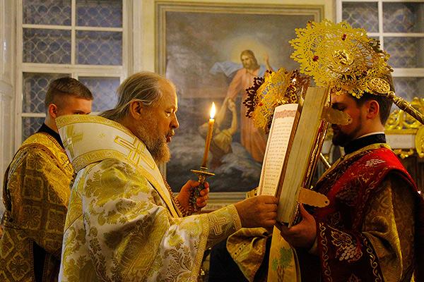 В канун Недели 24-й по Пятидесятнице Архипастырь возглавил всенощное бдение в Ах