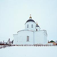 В Неделю по Богоявлении Архипастырь совершил литургию в Троицком храме с. Шахово