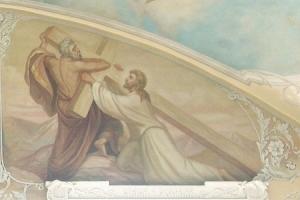 Страстная седмица. Фрагмент росписи правого предела Богоявленского собора