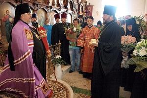 В день памяти Великомученика Пантелеимона архиепископ Пантелеимон совершил литургию в храме Иверской иконы Божией Матери
