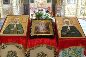 Частица мощей блаженной Матроны Московской и икона блаженной Ксении Петербургской доставлены в Ахтырский собор