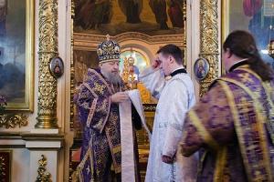 В неделю 4-ю Великого поста Владыка Антоний совершил Архипастырский визит в г. Ливны