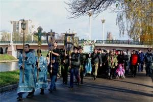 Крестный ход к месту битвы князя Димитрия Пожарского