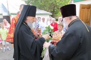 Владыка Антоний возглавил Божественную литургию в Никольском храме села Лепёшкино