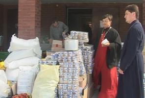 В церковный штаб по оказанию помощи пострадавшим жителям Крымска прибыла новая группа добровольцев
