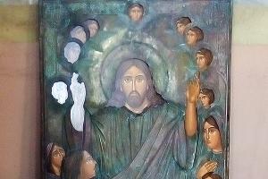 Воскресенский храм восстанавливает старинную икону «Христос благословляет детей»