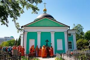 В Неделю 4-ю по Пасхе Архипастырь совершил литургию в Свято-Троицком храме Орла