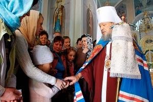 Архиерейское служение в Покровском храме с. Клейменово. Фоторепортаж