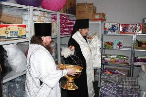 В Ливнах открылся епархиальный склад гуманитарной помощи