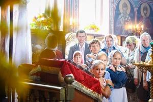 Архиерейское служение в день памяти Великомученика Пантелеимона в больничном Пан