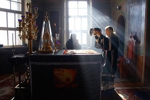 В пятницу первой седмицы поста митрополит Антоний совершил Литургию Преждеосвященных Даров в Ахтырском соборе Орла