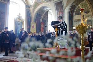 В Великую Среду митрополит Антоний совершил заключительную в Великом посту литургию Преждеосвященных Даров