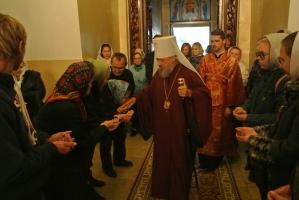 В канун Недели 18-й по Пятидесятнице Владыка совершил всенощное бдение в Богоявленском соборе