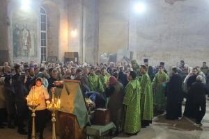 В канун дня памяти преподобного Сергия митрополит Антоний совершил всенощное бдение в с. Сергиевское
