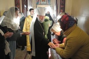 В канун Недели 19-й по Пятидесятнице Архипастырь возглавил всенощное бдение в Богоявленском соборе