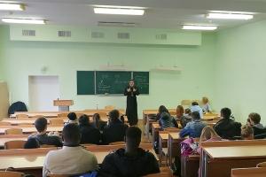 Председатель епархиального молодежного отдела ответил на вопросы студентов