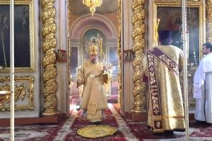 В Неделю 19-ю по Пятидесятнице митрополит Антоний совершил литургию в Ахтырском соборе