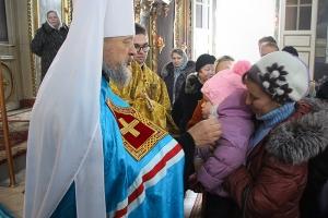 В Неделю 27-ю по Пятидесятнице Владыка возглавил литургию в Ахтырском соборе