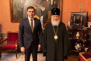 Святейший Патриарх Кирилл встретился с губернатором Орловской области Андреем Клычковым