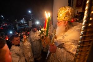 В Орле Ахтырский кафедральный собор стал центром пасхального торжества