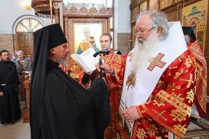 Наместник Свято-Успенского монастыря иеромонах Кирилл (Саввин) возведен в сан игумена