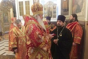 В канун престольного праздника Ахтырского (Никитского) собора митрополит Тихон совершил в храме всенощное бдение