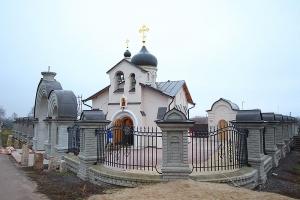 Архипастырь совершил литургию в престольный праздник в Георгиевском храме в Кромском районе