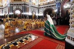 В день своего рождения Святейший Патриарх Кирилл совершил литургию в Храме Христа Спасителя. В торжестве участвовали иерархи Орловской митрополии