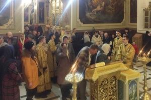 В канун Недели 20-й по Пятидесятнице митрополит Тихон совершил богослужение в Ахтырском соборе