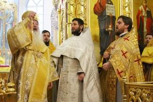 В день памяти святого Иоанна Кронштадтского Архипастырь совершил иерейскую хиротонию диакона Романа Жудина