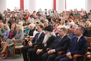 Архипастырь посетил торжественное мероприятие в Администрации Орловской области