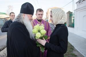 В день Похвалы Богородице митрополит Тихон возглавил Божественную литургию в Болхове