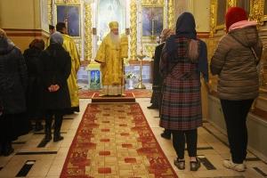 Архипастырь совершил всенощное бдение в Ахтырском соборе в канун Недели 23-й по Пятидесятнице