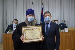Кромской священник отмечен высокой наградой Федеральной службы исполнения наказаний