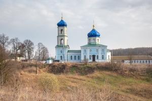 Архипастырь совершил Литургию в селе Спасское (Салтыки)
