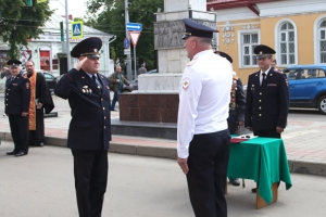 Священник напутствовал сотрудников полиции в день присяги