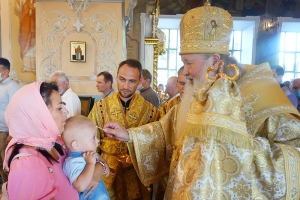 В канун дня памяти прп. Серафима Саровского Архипастырь совершил богослужение в Богоявленском соборе