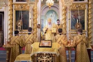 Архипастырь совершил богослужение в Ахтырском соборе в канун Недели 8-й по Пятидесятнице