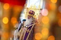 В среду 6-й седмицы Великого поста архиепископ Орловский и Болховский Тихон совершил литургию Преждеосвященных Даров в храме Смоленской иконы Божией Матери города Орла. 17 апреля 2019 г.