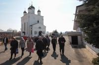 В Лазареву Субботу архиепископ Орловский и Болховский Тихон совершил литургию в Казанском соборе Свято-Успенского монастыря Орла. 20 апреля 2019 г.