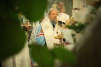 В канун праздника Крещения Господа нашего Иисуса Христа митрополит Орловский и Болховский Антоний возглавил всенощное бдение в Богоявленском соборе Орла. 18 января 2019 г.