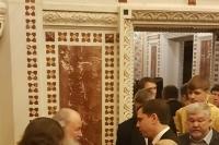 Архипастыри Орловской митрополии сослужили Святейшему Патриарху Московскому и всея Руси Кириллу в храме Христа Спасителя Кириллу в 10-ю годовщину интронизации Предстоятеля. 1 февраля 2019 г.