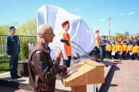 Митрополит Орловский и Болховский Тихон освятил памятник пожарным и спасателям в Орле. 30 апреля 2019 г.