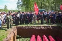 6мая 2019 г. наКривцовском мемориале состоялся митинг иторжественное перезахоронение останков советских бойцов, найденных поисковиками входе первого этапа межрегиональной акции «Вахта Памяти— 2019»