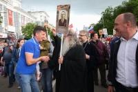 Митрополит Орловский и Болховский Тихон принял участие в акции «Бессмертный полк» в Орле. 9 мая 2019 г.