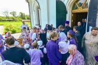 В день памяти прп. Макария Алтайского митрополит Орловский и Болховский Тихон совершил литургию в Троицком Рождества Богородицы Оптином женском монастыре города Болхова. 31 мая 2019 г.
